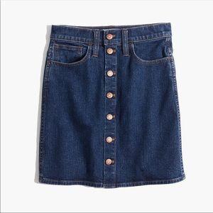 NEW Madewell Stretch Denim Straight Mini Skirt 26
